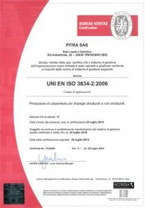 Certificato 3834-2:2006